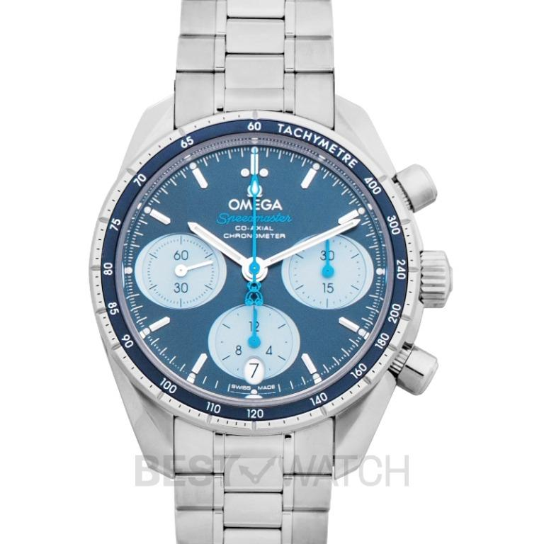 [NEW] Omega Speedmaster 38 mm Co-Axial Chronograph 38 mm Automatic Blue Dial Steel Men's Watch 324.30.38.50.03.002