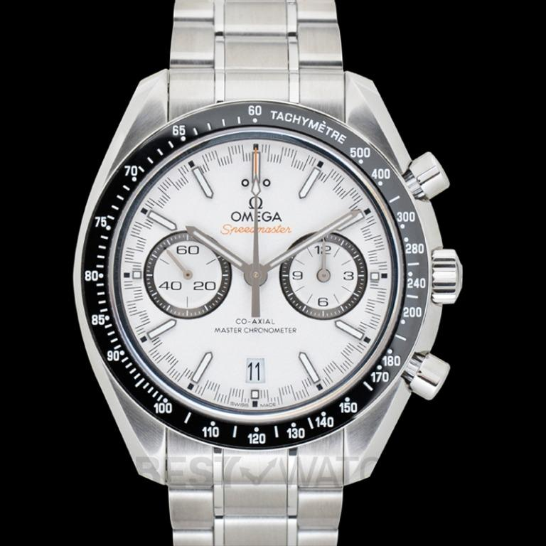 [NEW] Omega Speedmaster Racing Co-Axial Master Chronometer Chronograph 44.25mm Automatic White Dial Steel Men's Watch 329.30.44.51.04.001