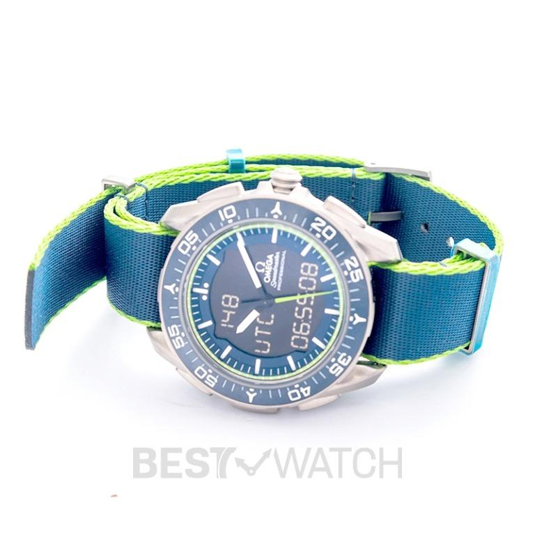 [NEW] Omega Speedmaster Skywalker X-33 Chronograph 45mm Quartz Blue Dial Titanium Men's Watch 318.92.45.79.03.001