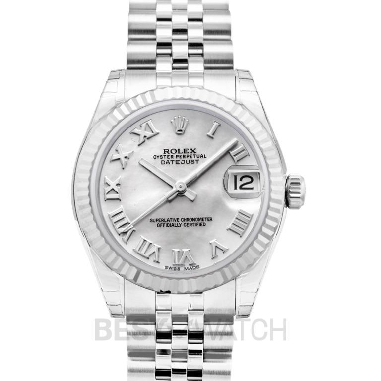 [NEW] Rolex Datejust Lady 31 Mother of Pearl Dial Stainless Steel Jubilee Bracelet Automatic Watch 178274-0071