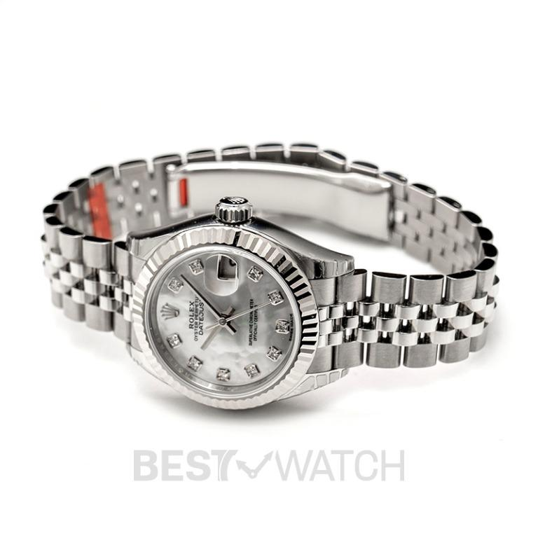 [NEW] Rolex Lady-Datejust Steel And 18ct White Gold Automatic Mother Of Pearl Diamond Dial Ladies Watch 279174-0009G
