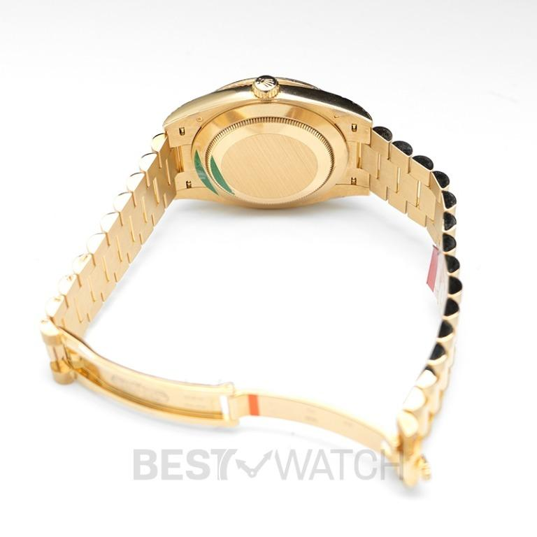 [NEW] Rolex Rolex Day-Date 40 Yellow Gold Black Diamond Dial & Diamond Bezel President Bracelet 228348RBR_Black