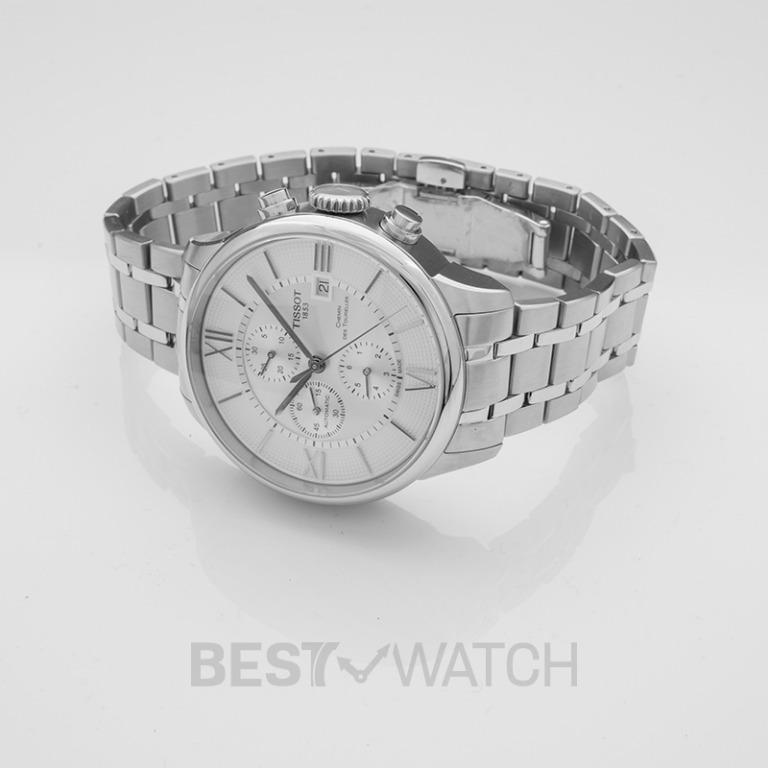 [NEW] Tissot T-Classic Chemin Des Tourelles Automatic Chronograph Silver Dial Men's Watch T099.427.11.038.00