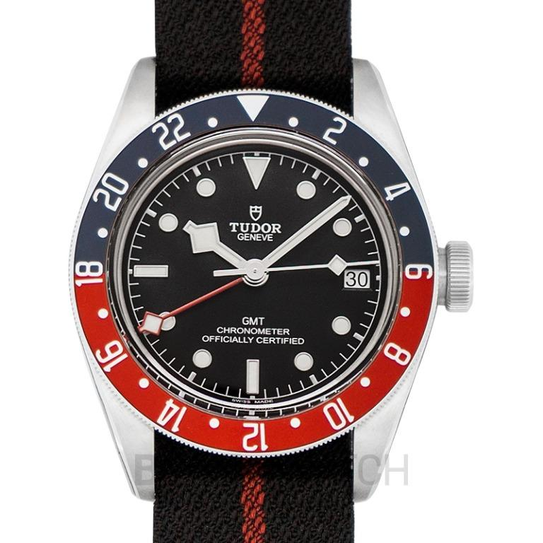 [NEW] Tudor Heritage Black Bay Pepsi Blue and Red Bezel Stainless Steel Automatic Black Dial Men's Watch 79830RB-0003