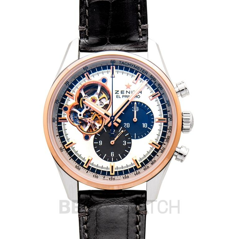 [NEW] Zenith El Primero Auto Chronograph 18kt Rose gold & stainless steel case Men's Watch 51.2080.4061/69.C494