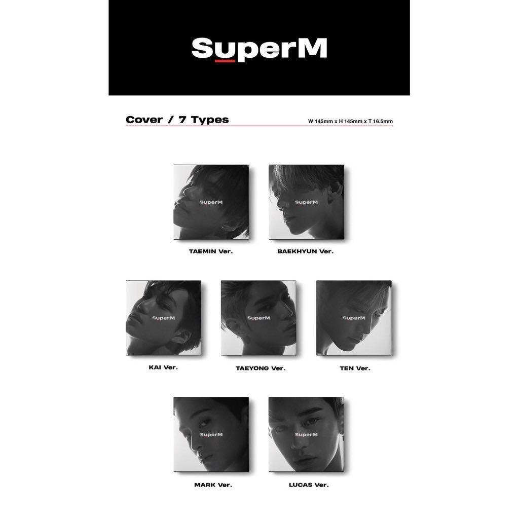 Super M SuperM Mini Album Group/United Ver. Member Ver.
