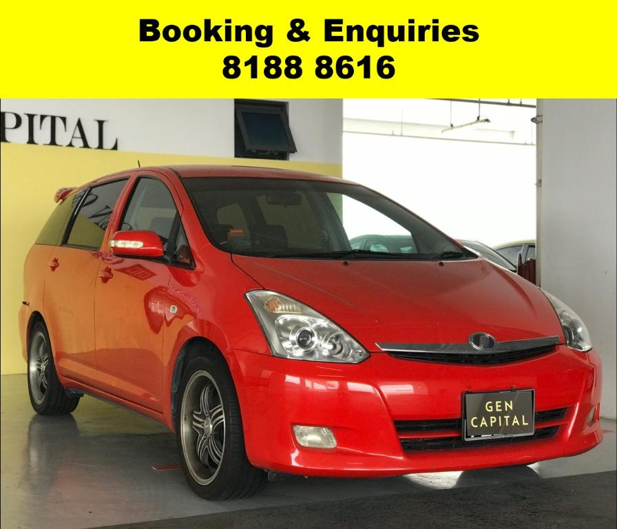 Toyota Wish HAPPY MONDAY!! JUST IN!! Fuel efficeint, spacious & well maintained! FREE Petrol Voucher & FREE rental for new contract signup! Just $500 Deposit driveaway immediately! Whatsapp 8188 8616 now to enjoy special rates!!