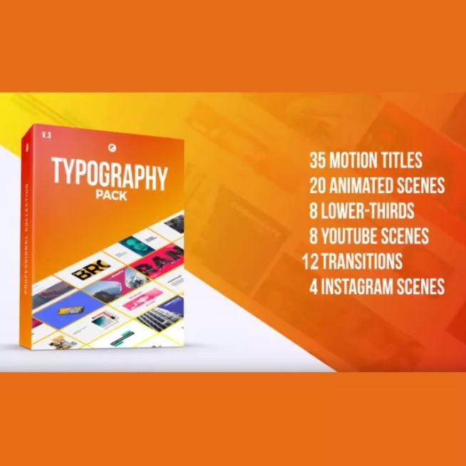 Typography Pack PRO for FCPX Final Cut Pro X & Apple Motion