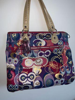 Coach Poppy Pop C GlamLarge Tote Bag #18342