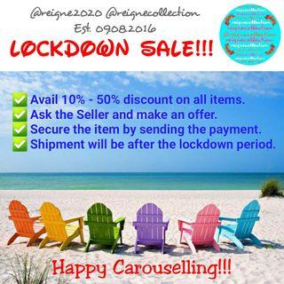 10% to 50% discount - lockdown sale!!!