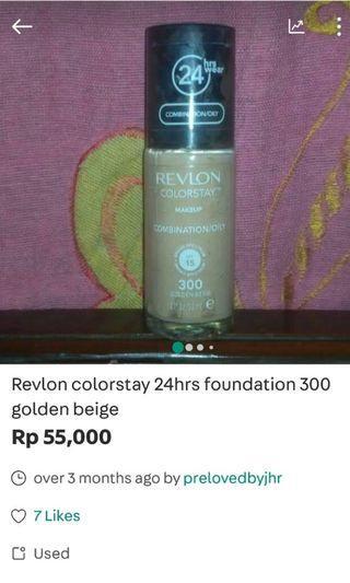 Revlon colorstay 24hrs matte foundation 300 golden beige