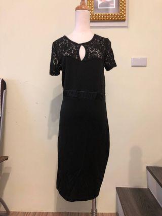 英國Asos小黑蕾絲洋裝