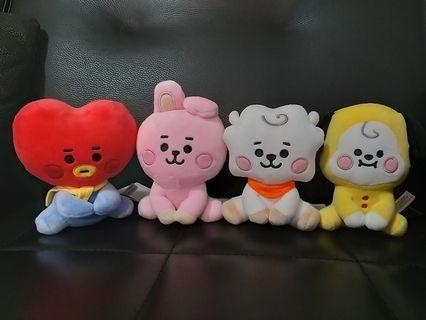 韓國 BT21  官方  TATA  COOKY  CHIMMY  坐姿玩偶 BABY款 現貨