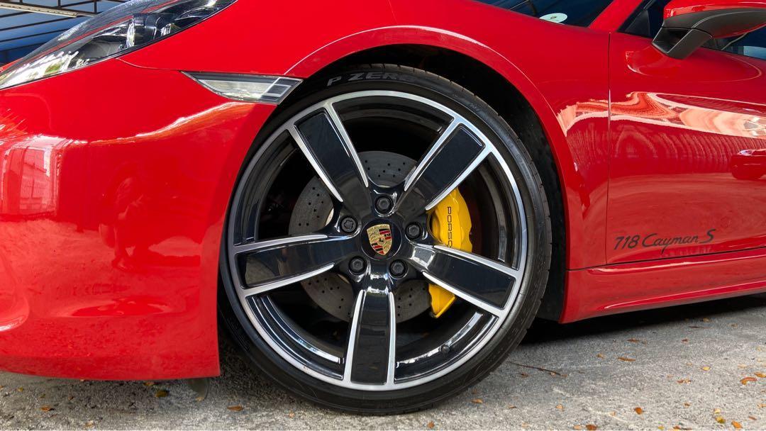 2018 Porsche 718 Cayman S Full Spec Ceramic Brake Bucket Seat