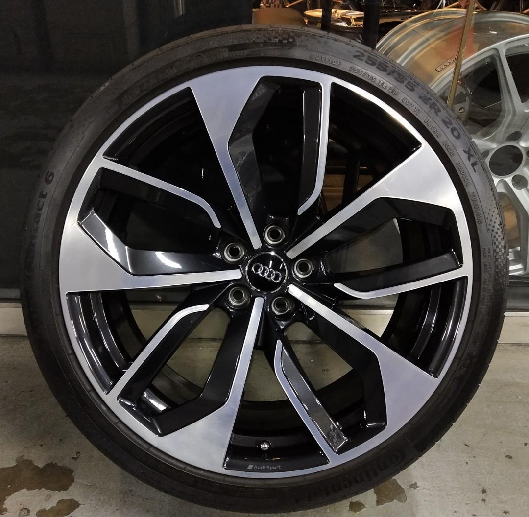 20 Audi Rs4 Original Forged Rim With Tyres Car Accessories Tyres Rims On Carousell