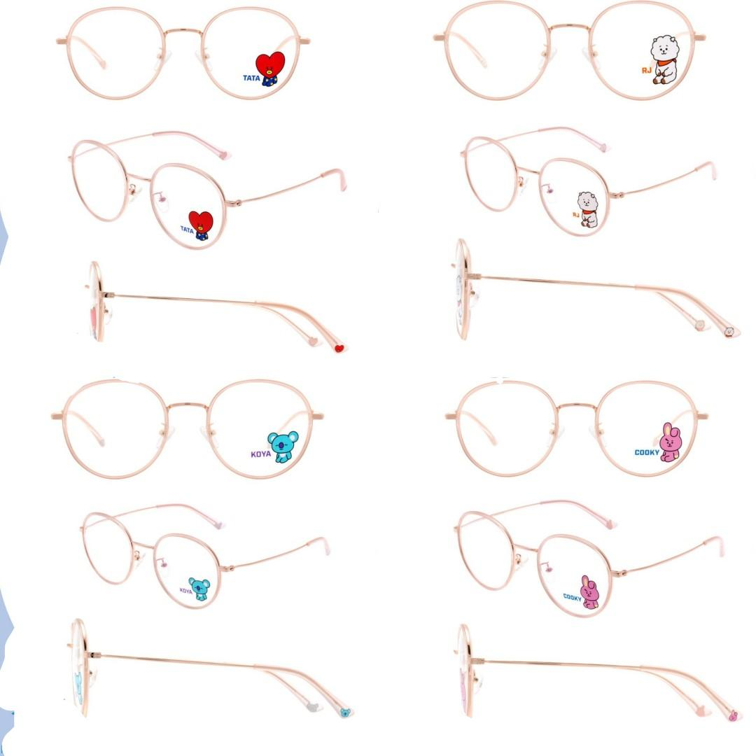 BT21 Official Authentic Product Look Optical Soltex glasses