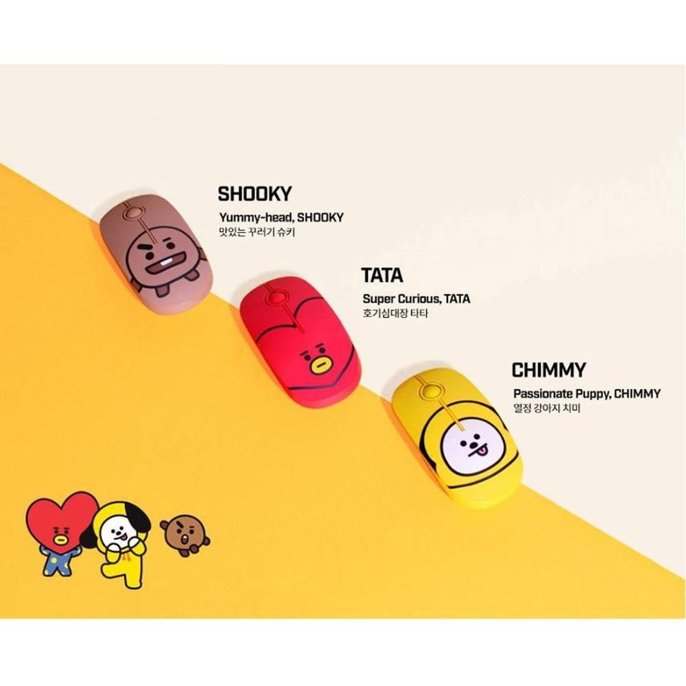BT21 Official Figure Wireless Silent Mouse by Royche
