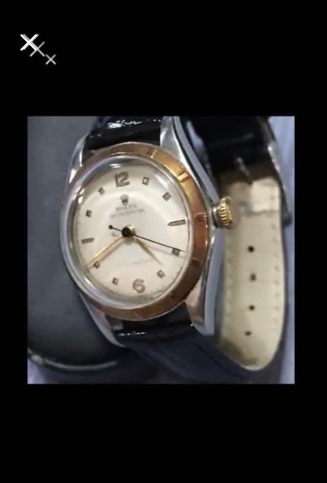 CLEARANCE SALES {Collectibles Item - Vintage Rolex Watch} Rare Authentic Unisex 1940s ROLEX OYSTER BUBBLE BACK 古董泡泡背 Perpetual Super Precision Automatic 29.5cm (Excluding Crown) & Bubble v75 Year Old Antique Automatic Oyster