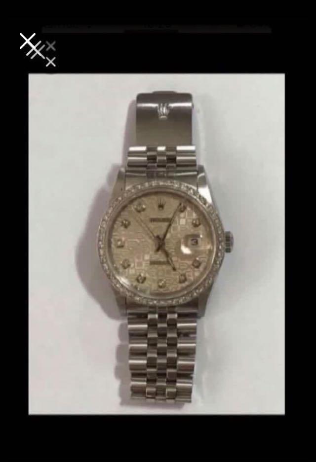 CLEARANCE SALES {Luxury Dress Watch - ROLEX} Authentic Men Size ROLEX DateJust 36mm Computer Dial With Diamonds Model 16234 Come With Diamond Bezel & Original Bracelet - Best Buy