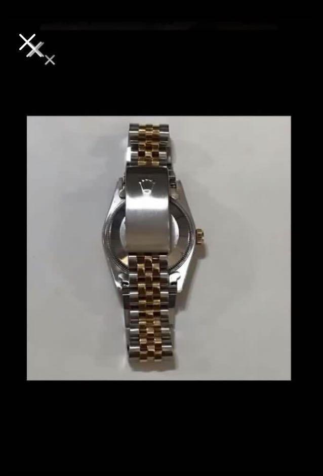CLEARANCE SALES {Luxury Dress Watch - ROLEX} Gorgeous & Classy Half Gold Authentic Unisex ROLEX Boy DateJust 31mm Champagne Rhodium Diamonds Model 68273 Come With Original Gold Bezel & Half Gold Bracelet - Best Buy