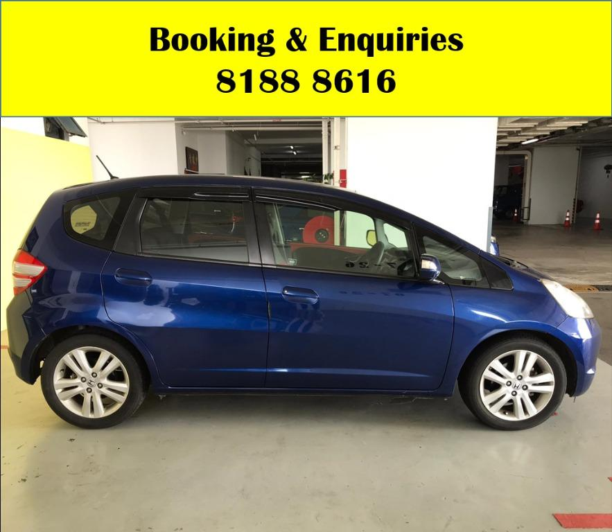 Honda Jazz LOWEST RENTAL IN TOWN! Rent a car from us today & travel with a peace of mind! We have lowered our rental rates with additional Free rental and Petrol vouchers for new signups! Whatsapp 8188 8616 now to reserve a car now!