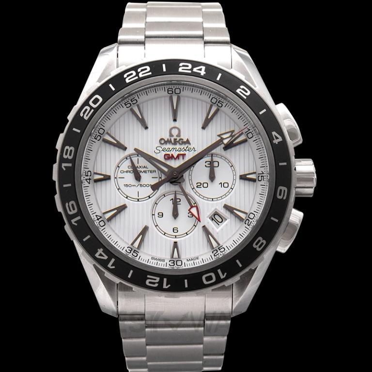 [NEW] Omega Seamaster Aqua Terra 150M Co-Axial GMT Chronograph 44 mm Automatic Silver Dial Stainless steel Unisex Watch 231.10.44.52.04.001