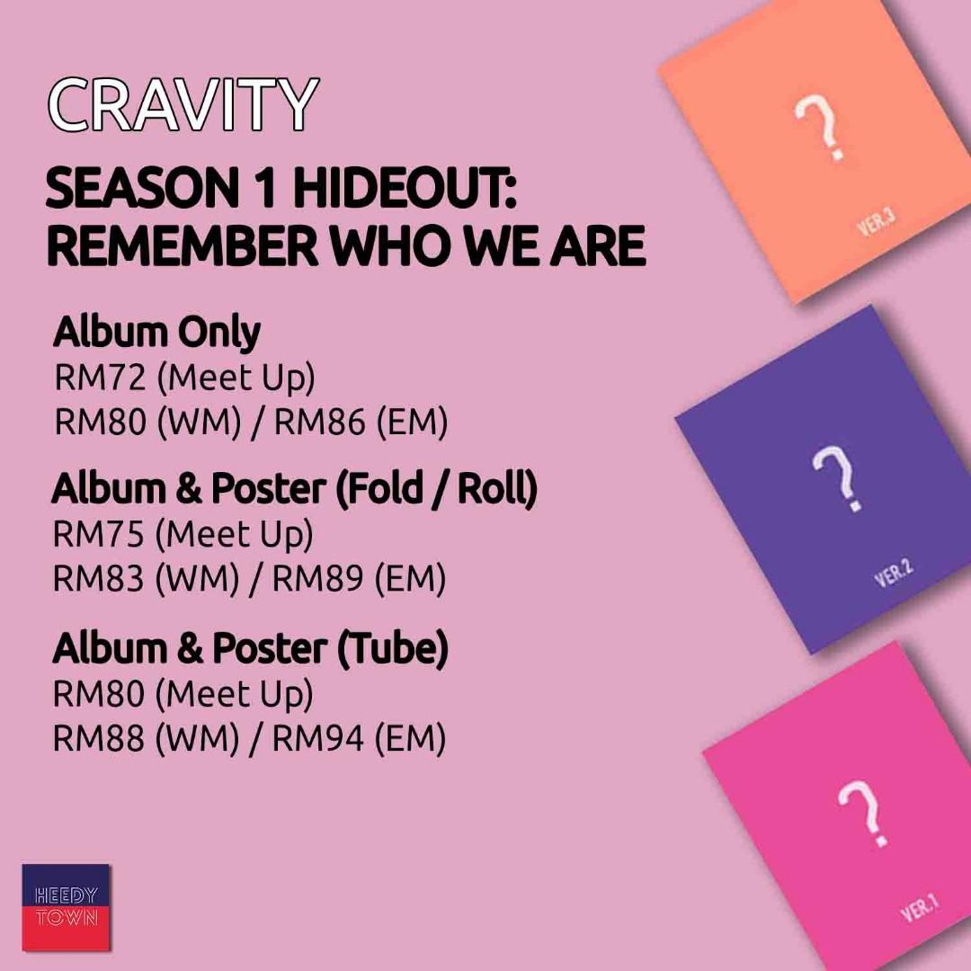 (PRE-ORDER) CRAVITY - SEASON 1 HIDEOUT: REMEMBER WHO WE ARE