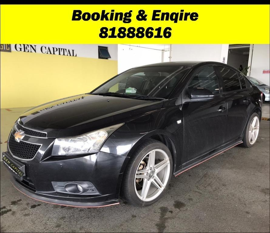 SOCIAL DISTANCING??  Rent a Chevrolet Cruze now to travel with a peace of mind! Cheapest rental in town with just $500 Deposit driveoff immediately.  Superb condition, Fuel efficient (12km/Litre) & Spacious! Whatsapp 8188 8616 now to enjoy special rates!!