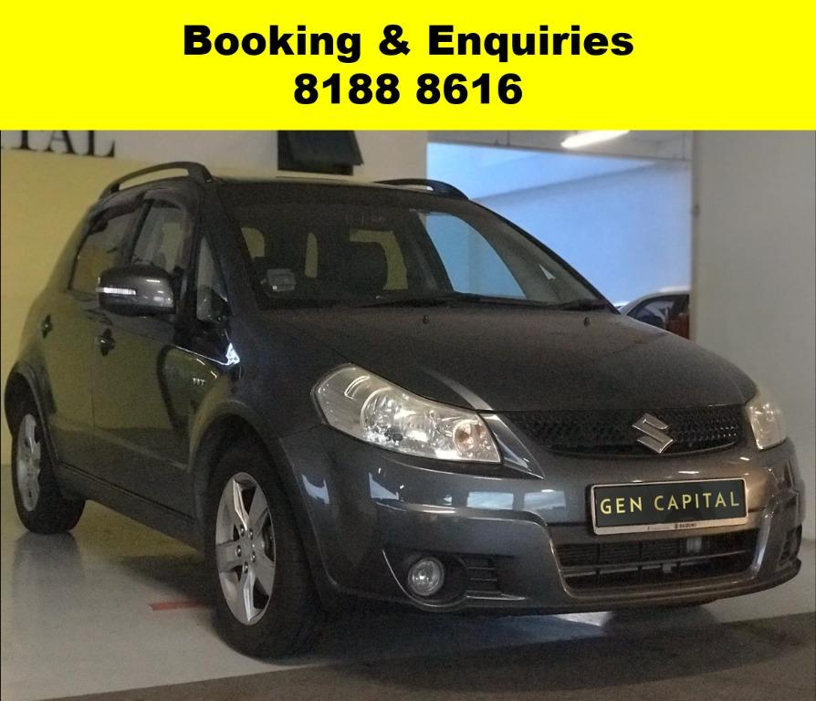 SOCIAL DISTANCING??  Rent a Suzuki SX4  now to travel with a peace of mind! Cheapest rental in town with just $500 Deposit driveoff immediately.  Superb condition, Fuel efficient (12.5km/Litre) & Spacious! Whatsapp 8188 8616 now to enjoy special rates!!