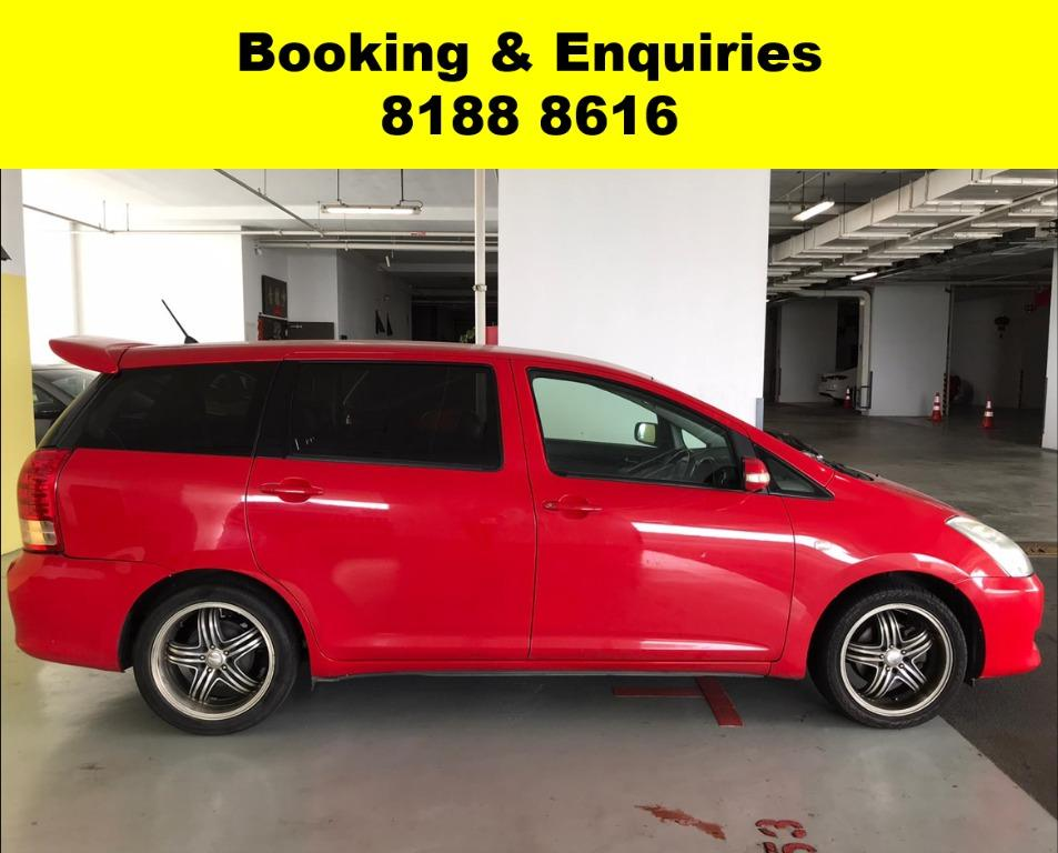 SOCIAL DISTANCING??  Rent a Toyota Wish  now to travel with a peace of mind! Cheapest rental in town with just $500 Deposit driveoff immediately.  Superb condition, Fuel efficient (12.5km/Litre) & Spacious! Whatsapp 8188 8616 now to enjoy special rates!!