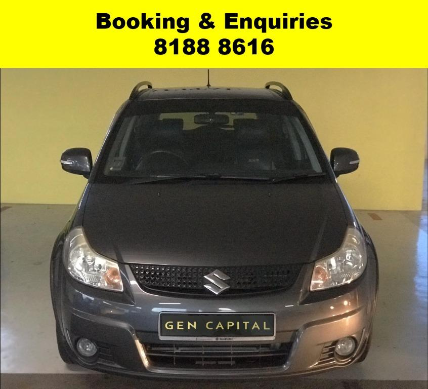 Suzuki SX4 LOWEST RENTAL IN TOWN! Rent a car from us today & travel with a peace of mind! We have lowered our rental rates with additional Free rental and Petrol vouchers for new signups! Whatsapp 8188 8616 now to reserve a car now!