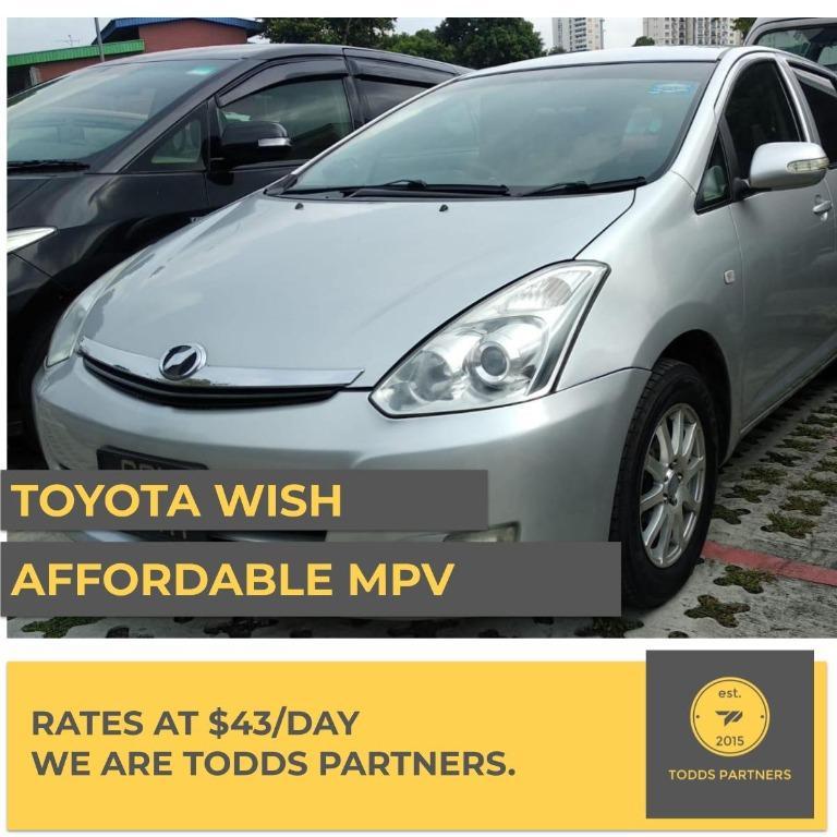 Toyota Wish - For Grab/GoJEK
