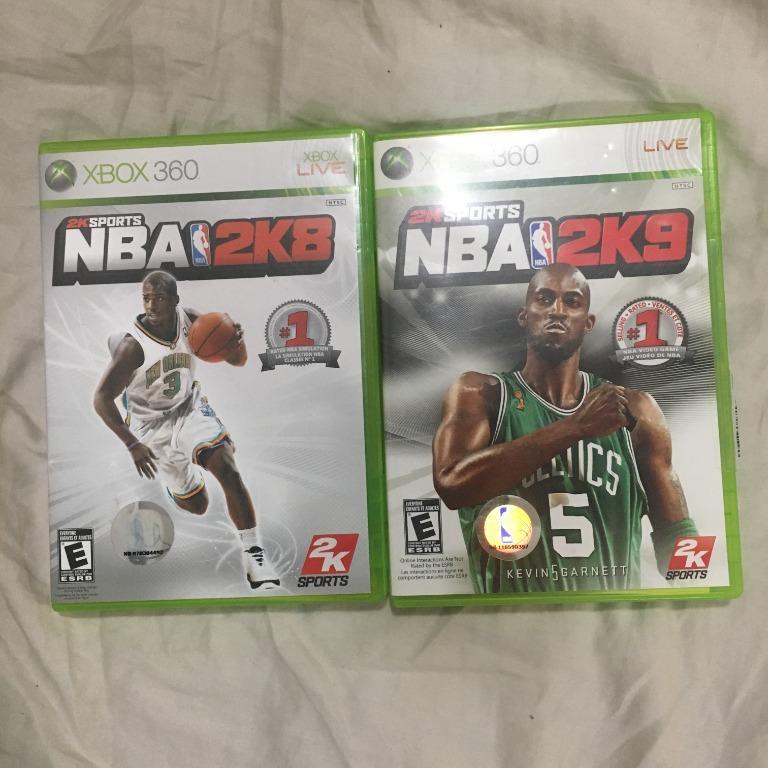 Xbox 360 Basketball Video Games (NBA 2K8 & NBA 2K9)