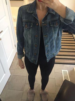 Denim jacket, size L but fits like a M