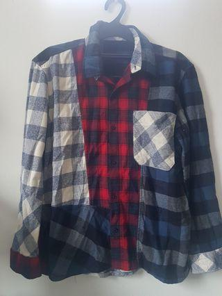kemeja flannel mixed DIY