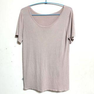 全新藕粉色針織上衣