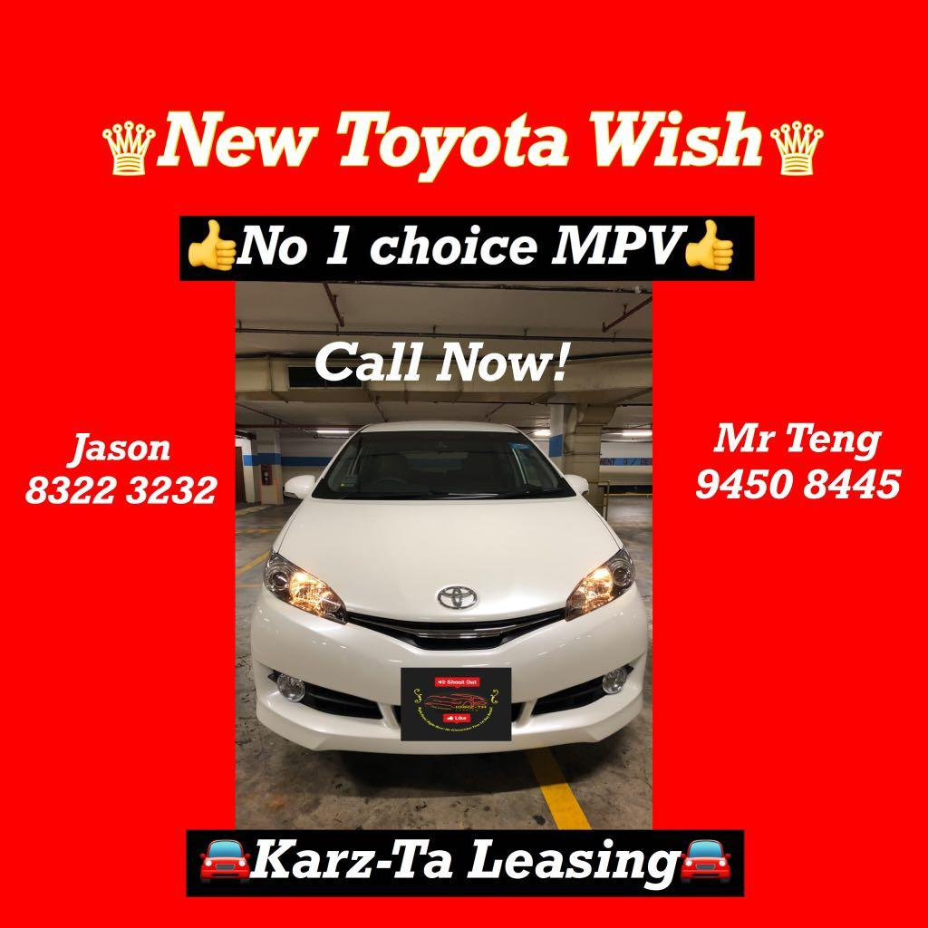 2019 Model! TOYOTA Wish! Lowest Rate! Promo Now! Go-Jek/Grab/Ryde/Personal Use Welcome! Call Us Now!