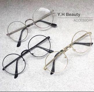 (不換物) ✨YH Beauty復古圓框眼鏡✨