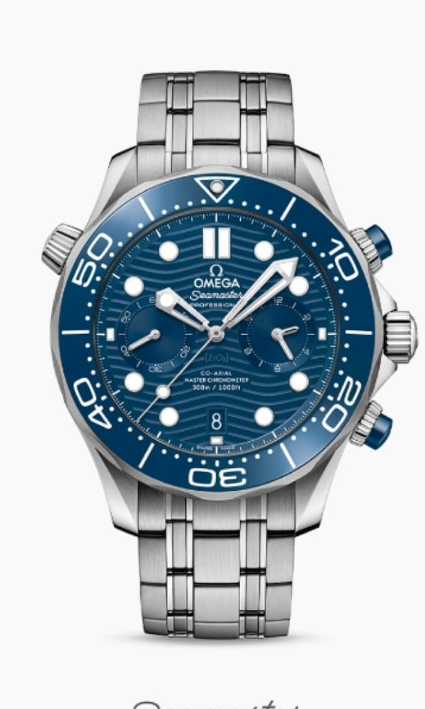 * FREE DELIVERY * Brand New 100% Authentic Omega Seamaster Blue Dial Chronograph Mens Divers Watch 210.30.44.51.03.001