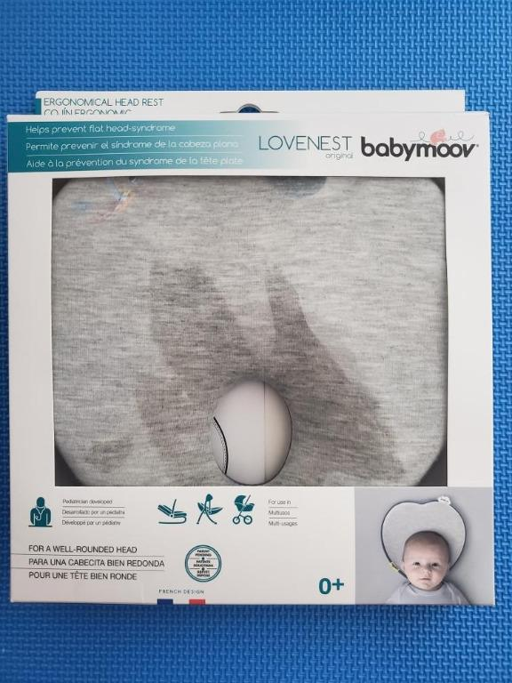 Babymoov Lovenest Newborn Head Support Pillow in Grey