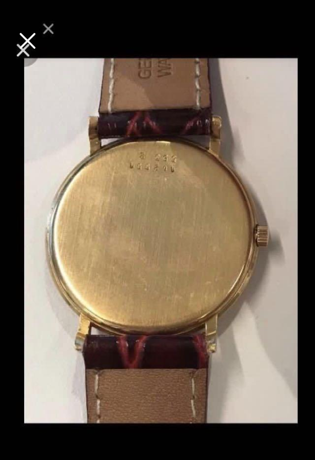 {Collectibles Item - Vintage Dress Watch} Rare Authentic Vintage ASTERIAL Brand Solid 18K Rose Gold Manual Winding Wrist Watch Case Ref 162551/552/2 True Vintage Minimal Wear & Tear With Texture Watch Face 4mm Only In Thickness