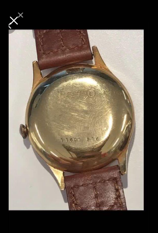CLEARANCE SALES {Collectibles Item - Vintage Dress Watch} Rare In Late 1950s Authentic True Vintage Eberhard Brand Manufacturer Reference No. 11601/816 Solid 18K Rose Gold Mechanical Movement & Automatic Winding Wrist Watch