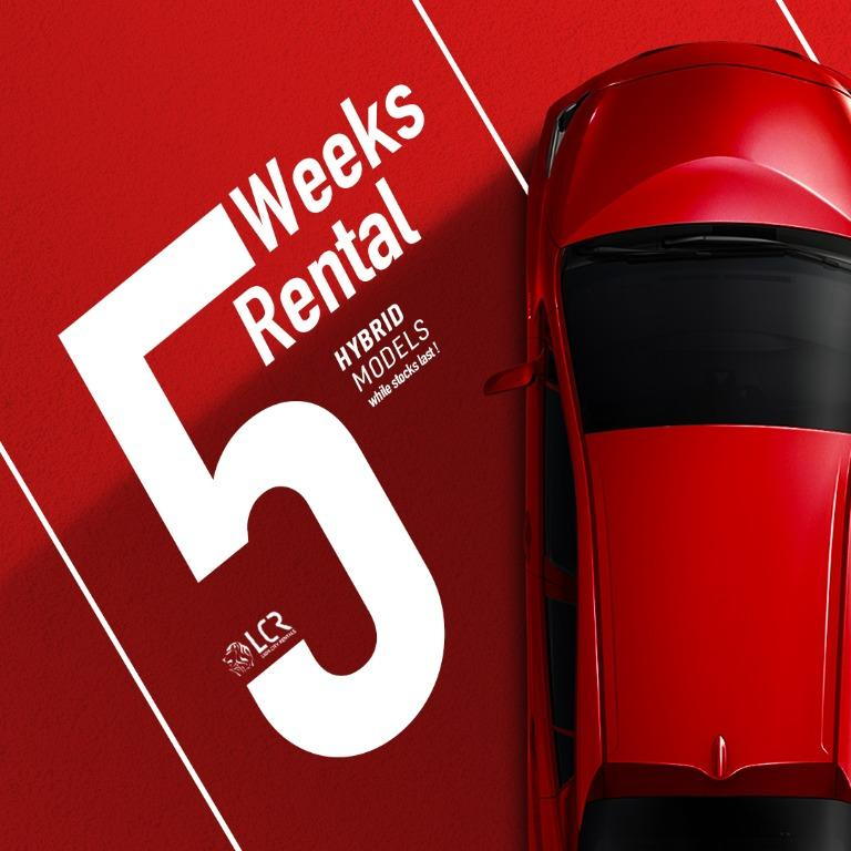 Lion City Rentals Short Term Car Rental Promo for PHV use