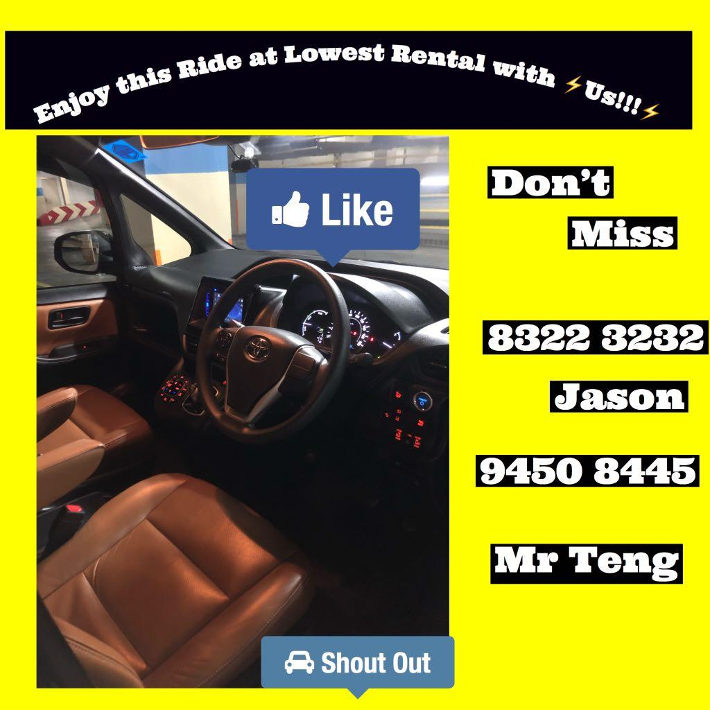Let Over Come this Period! Lowest Rate! No Gimmicks! TOYOTA Noah Hybird! Nice outlook with Full Leather! Call Us Now !