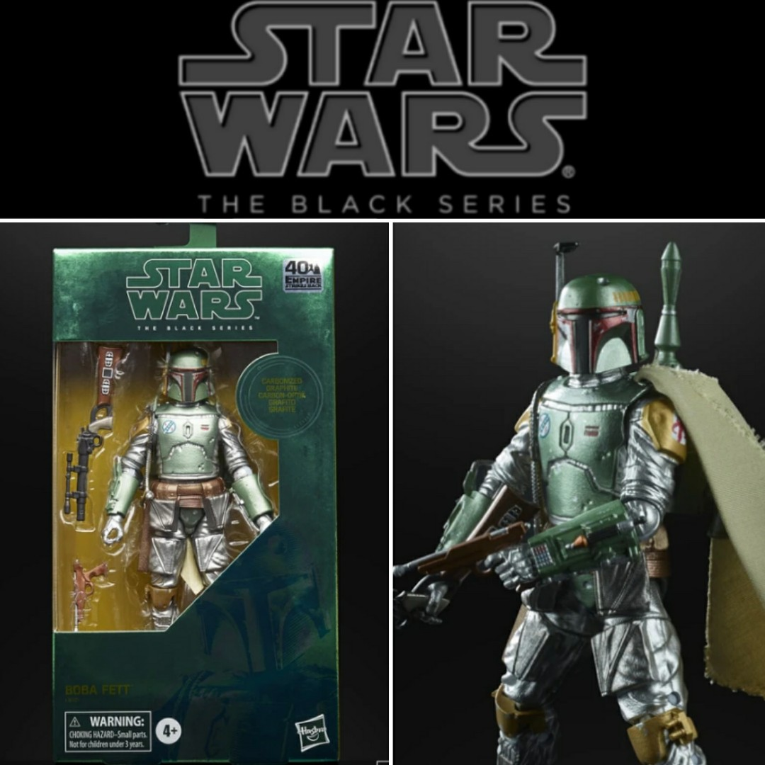 Preorder New In Box Star Wars Boba Fett Carbonized Black Series SOLD OUT