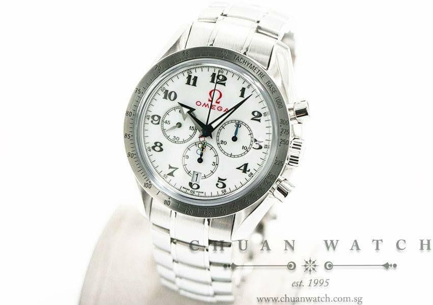 Pre-Owned Omega Speedmaster Broad Arrow Co-Axial Olympic Games Collection 42mm 321.10.42.50.04.001 - Discontinued