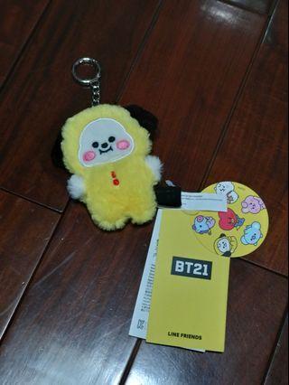 韓國 官方 BT21  CHIMMY  絨毛吊飾  BABY款 現貨 送角色貼紙