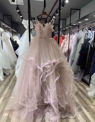 婚紗店藕粉二手超仙 綁帶不挑身材婚紗