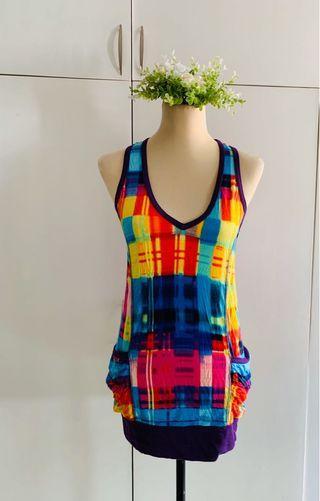 Forever 21 Colorful Sleeveless Top/Short dress