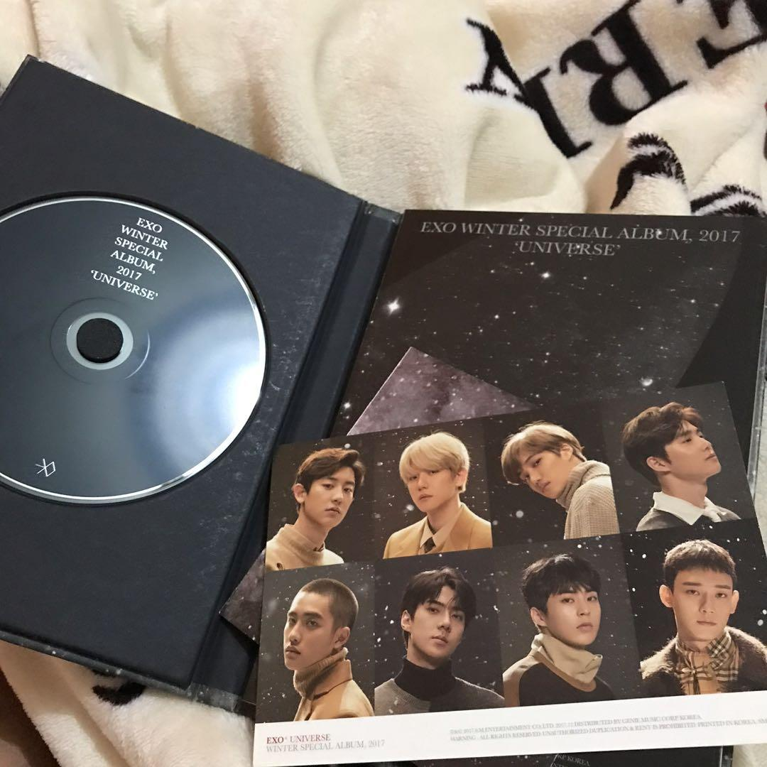 ( UNSEALED ) EXO WINTER SPECIAL UNIVERSE WITH POSTCARD